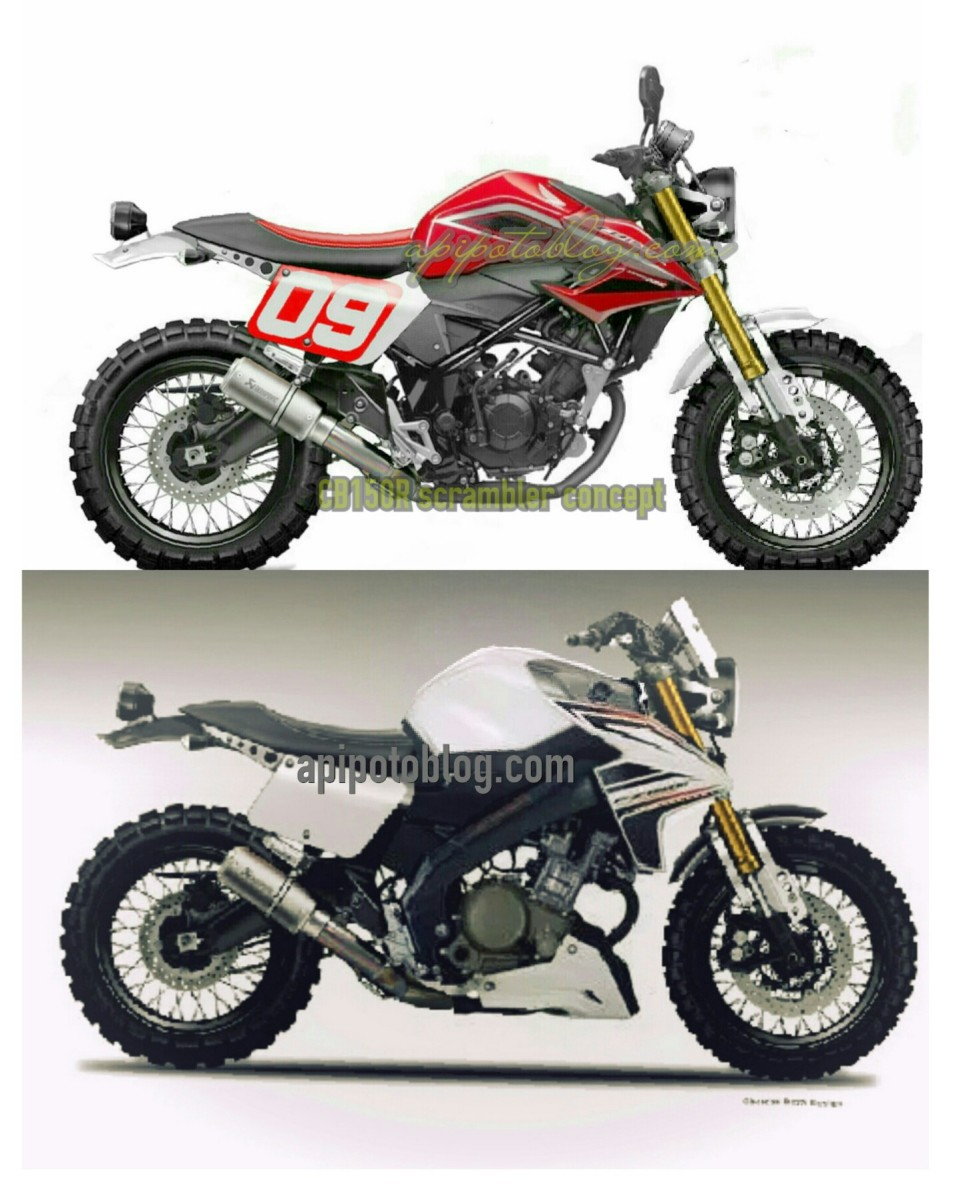 Konsep Modifikasi Scrambler Honda CB 150 R vs Yamaha Vixion