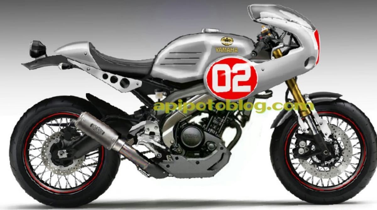 Yamaha Vixion modif Neo Cafe racer , half fairing .. !