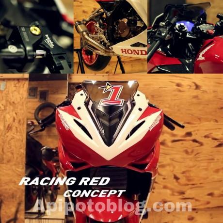 modif CBR150R merah Putih