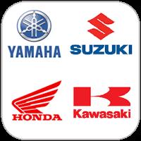 Honda,kawasaki,suzuki,yamaha