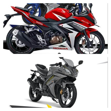 all New CBR150R vs yamaha R15