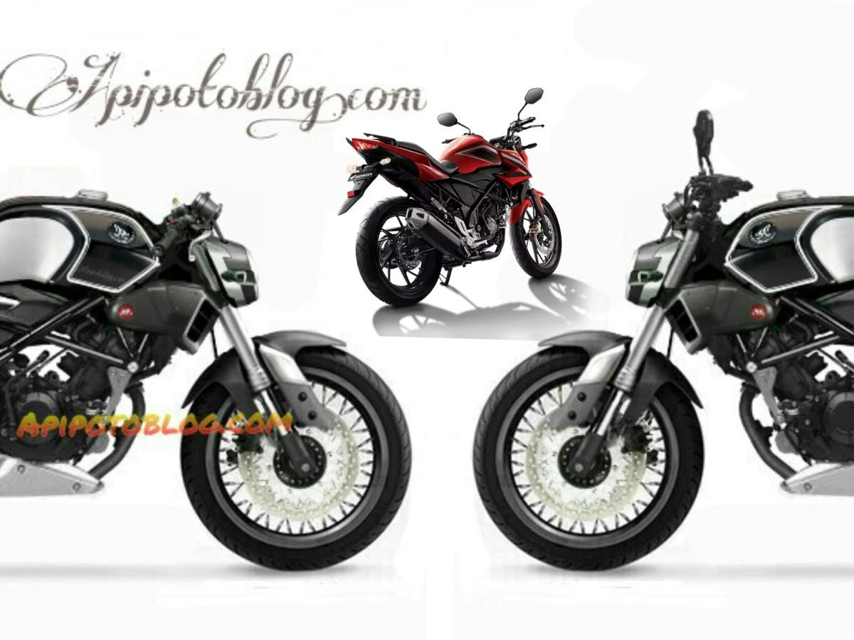 Mengintip Modifikasi Cb150r Fairing Ala All New Cbr250rr Keren Cb 150r Streetfire Honda Racing Red Kudus Cafe Racer