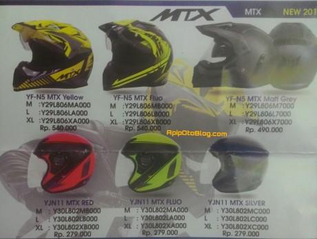 harga helm MTX