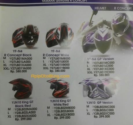 harga helm yamaha R series